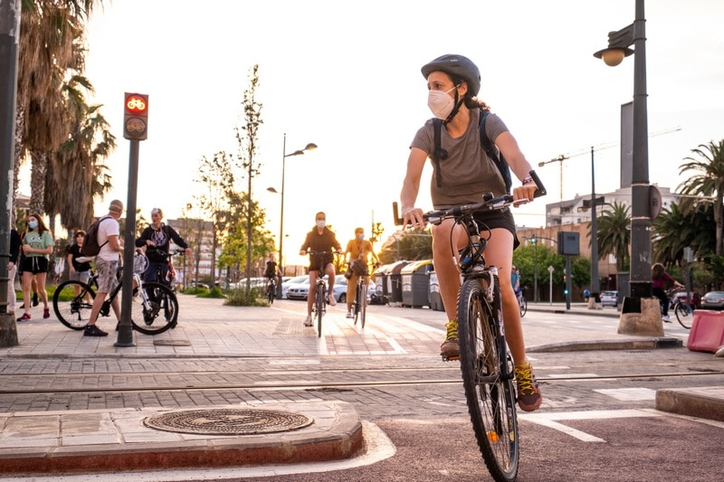 Bicicleta y coronavirus