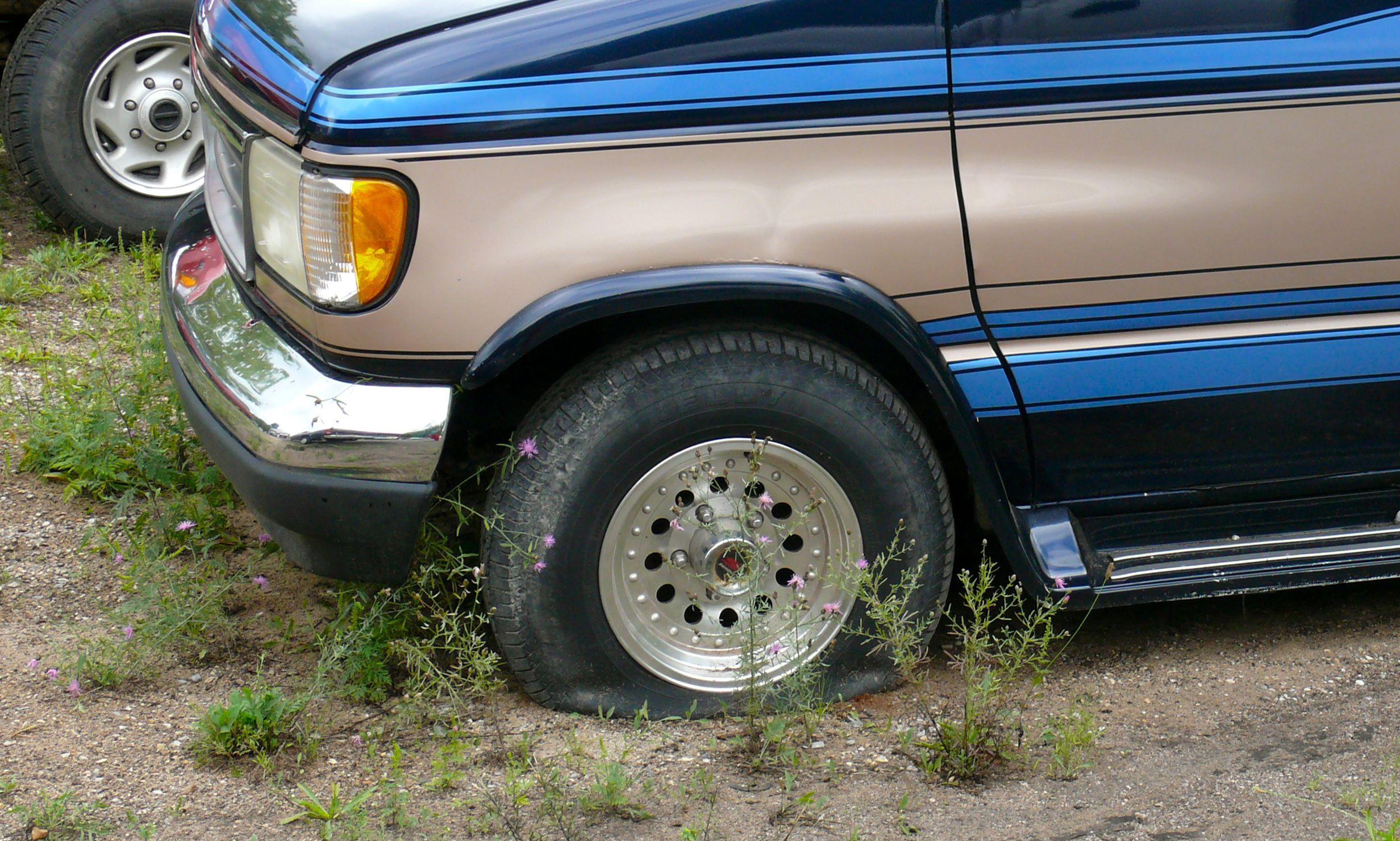 pneus com pouco ar -CS