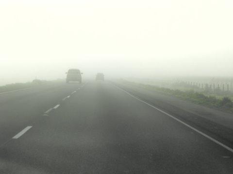 Conselhos para conduzir com nevoeiro