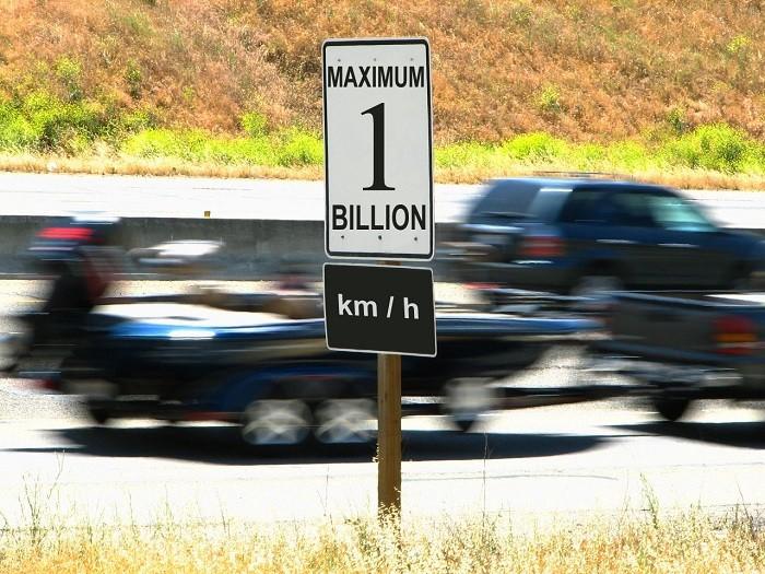 Números do excesso de velocidade em 2014
