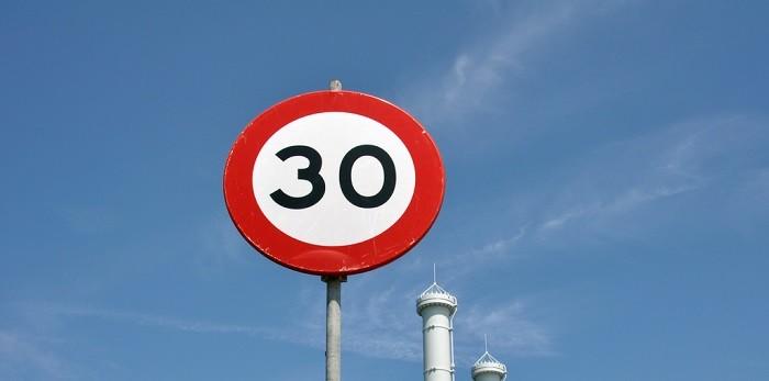 Redução dos limites de velocidade nas cidades