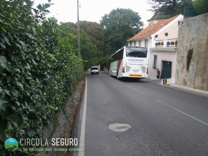 Sintra, zona de turismo e de perigo rodoviário elevado.