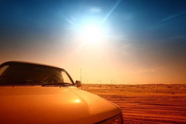 O Sol é perigoso para o seu carro